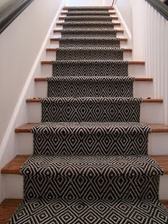 Geomatric Design Carpet Stair Runner Installation Toronto Ontario