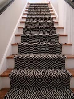 Geomatric Design Carpet Stair Runner Installation Toronto Ontario
